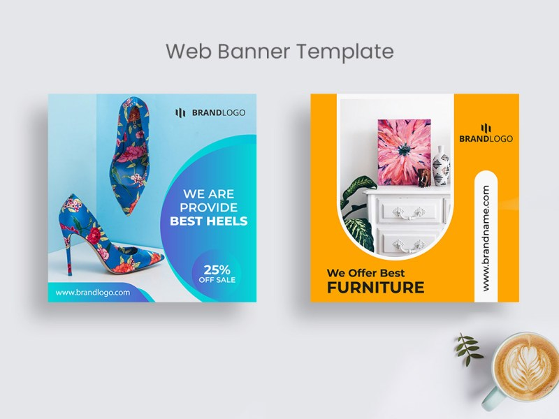 product sale web banner template social media post on