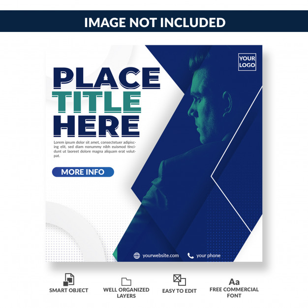professional social media post template premium psd file