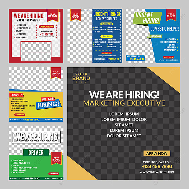 we are hiring social media post template template for free