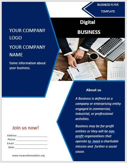 11 free unique business flyer templates microsoft word