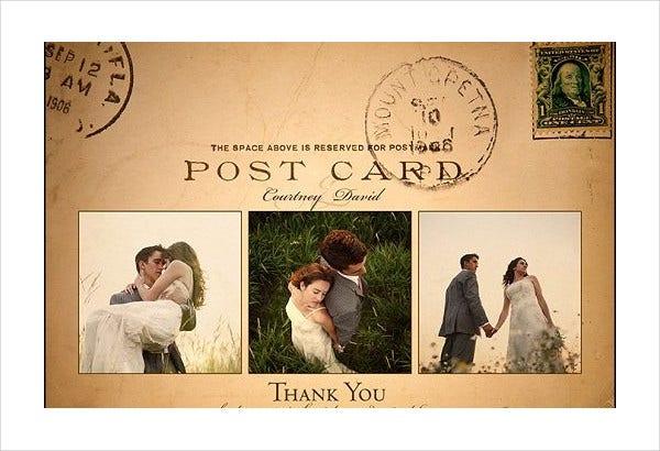 7 vintage postcard templates free psd ai vector eps