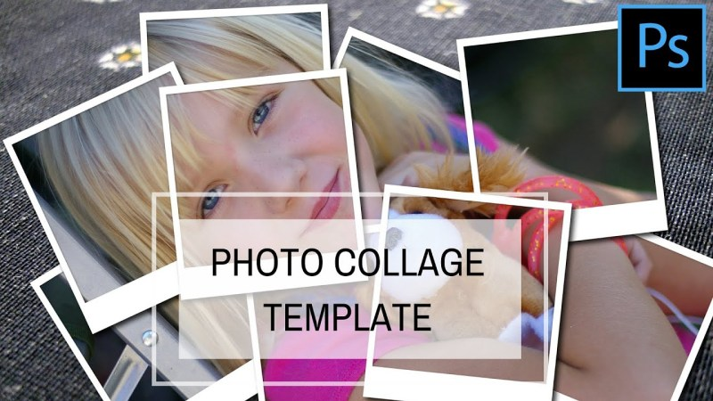 create a photo collage template in photoshop youtube