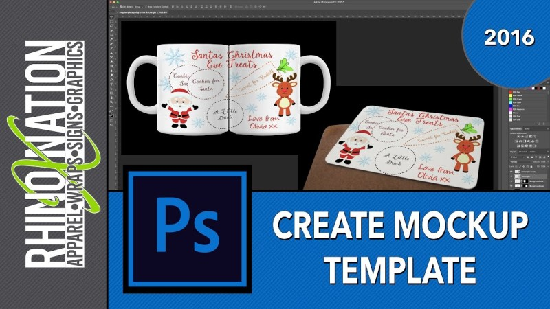 creating mockup templates in photoshop youtube