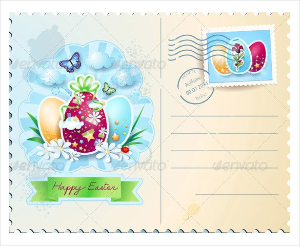 easter postcard template 11 free psd eps format