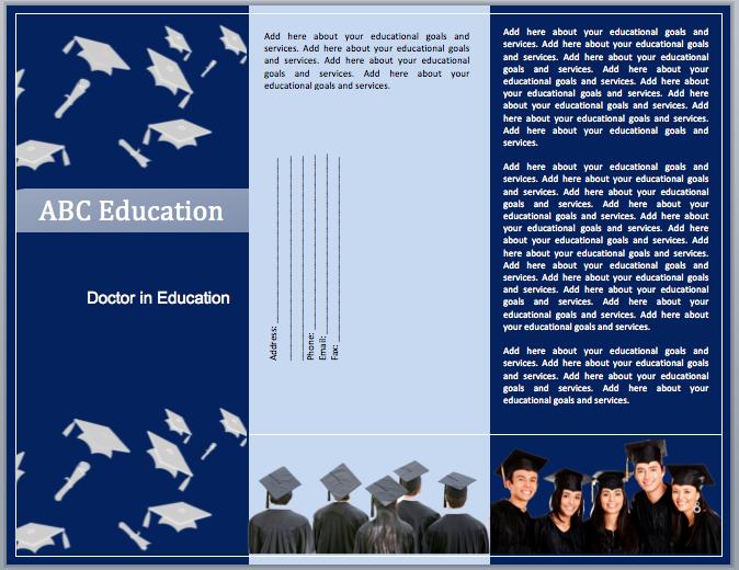 educational brochure templates word templates