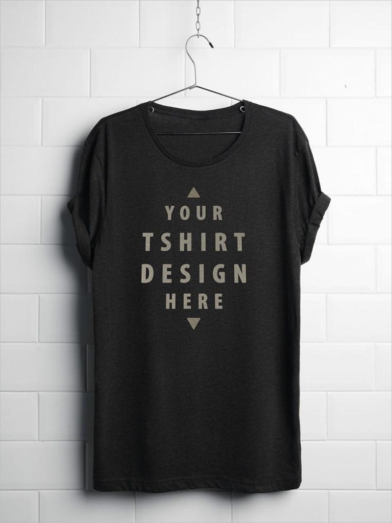 free realistic hanging t shirt mockup psd mockup psd