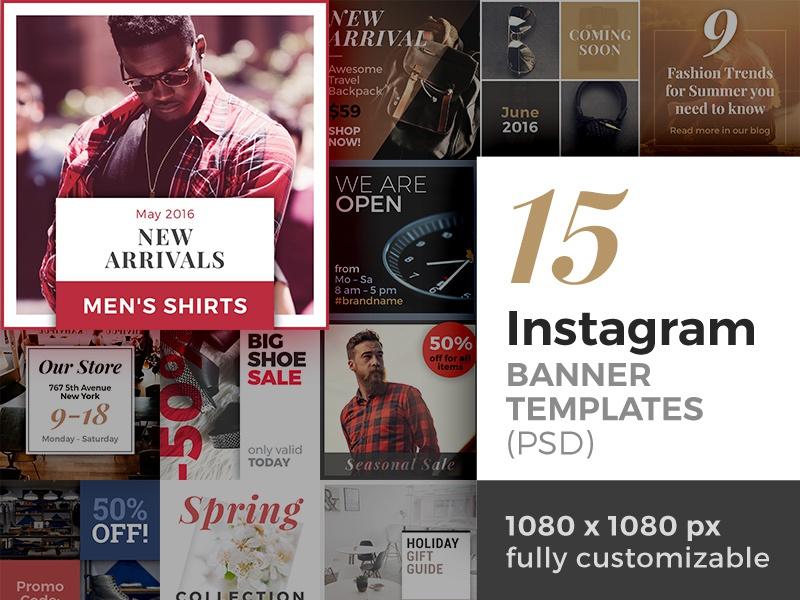 photoshop banner templates for instagram photomarket