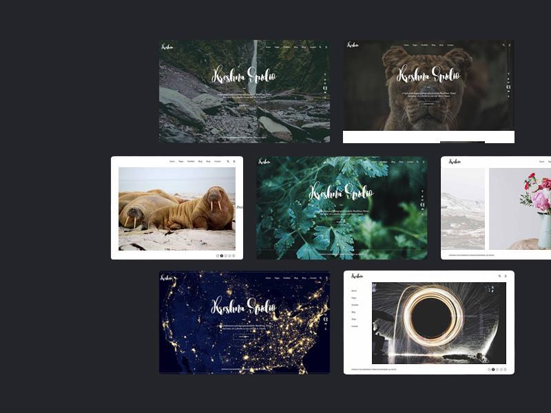 photoshop design portfolio template