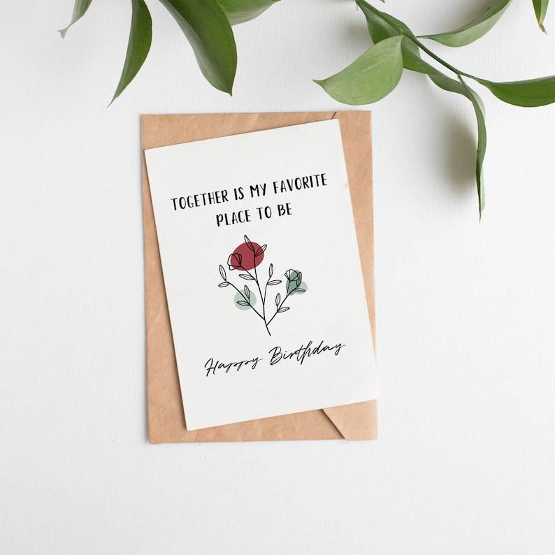 printable birthday card for wife romantic birthday card