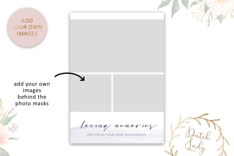 psd wedding photo session card adobe photoshop template