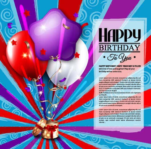 8 birthday greeting cards psd ai free premium