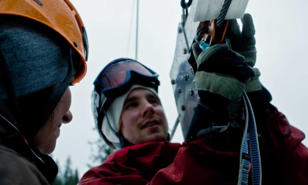 Ready, set, zipline: Five steps to humility on a Swedish zipline.
