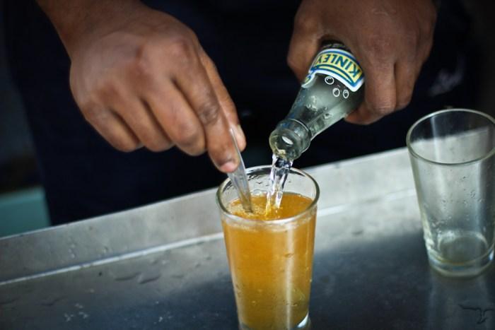 Fresh lime soda in India