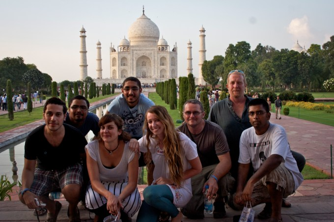 Friends at the Taj Mahal
