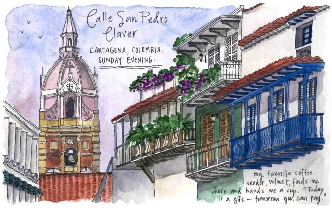 Travel sketches of Cartagena