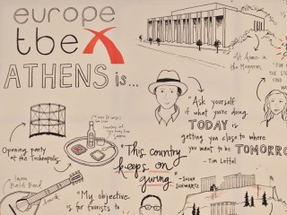 Live sketch mural for TBEX Europe