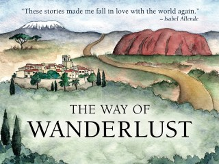 Illustrated book cover for Travelers' Tales