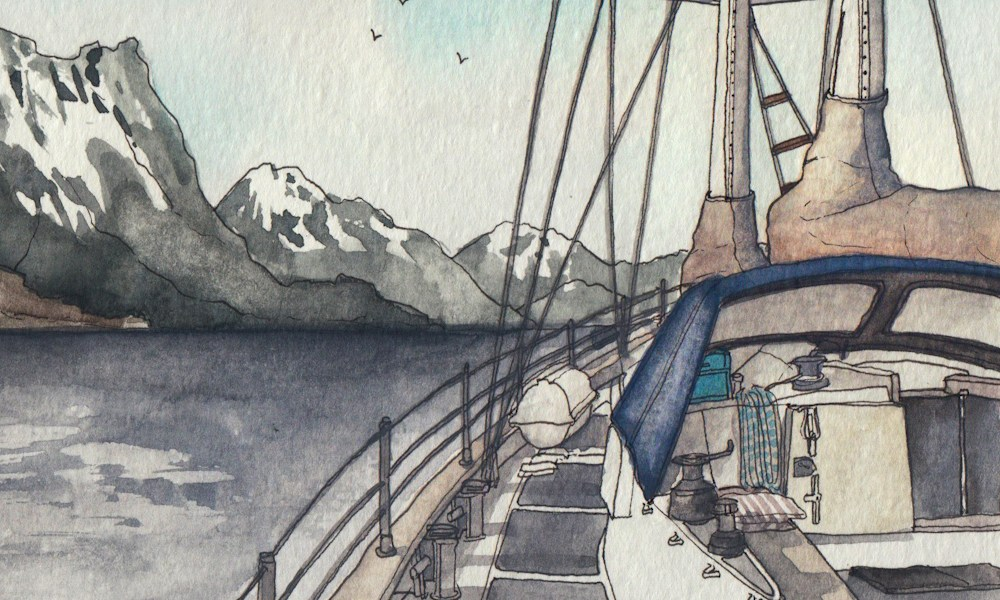 Sketching Norway: Surprise voyage on the Skydancer.