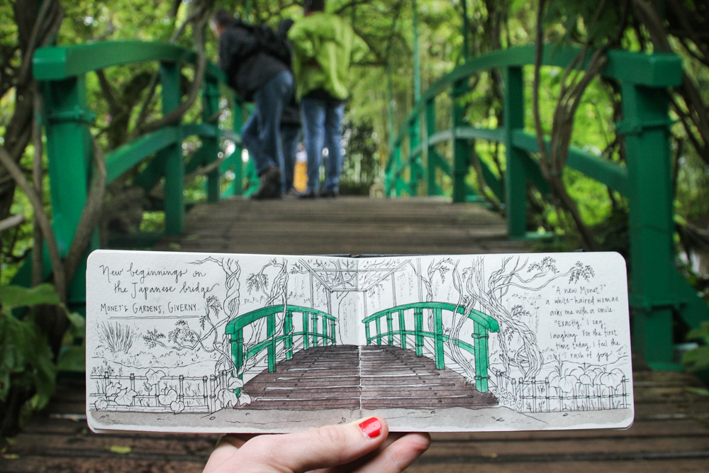 Travel sketch Giverny Paris France
