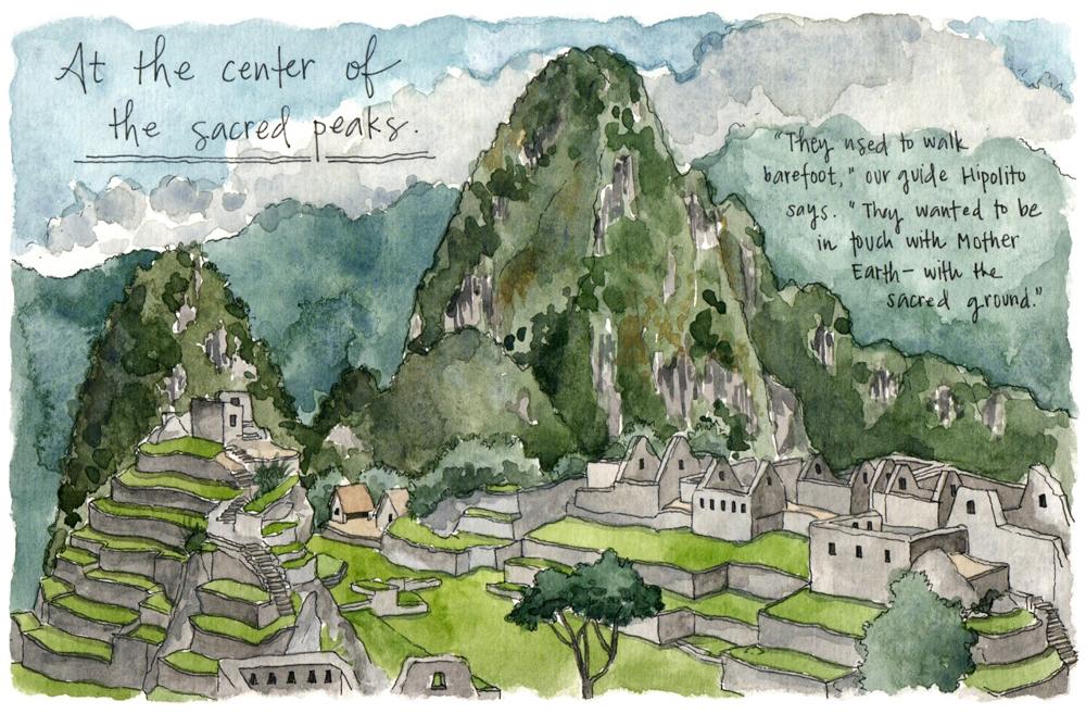 Travel sketch Machu Picchu Peru