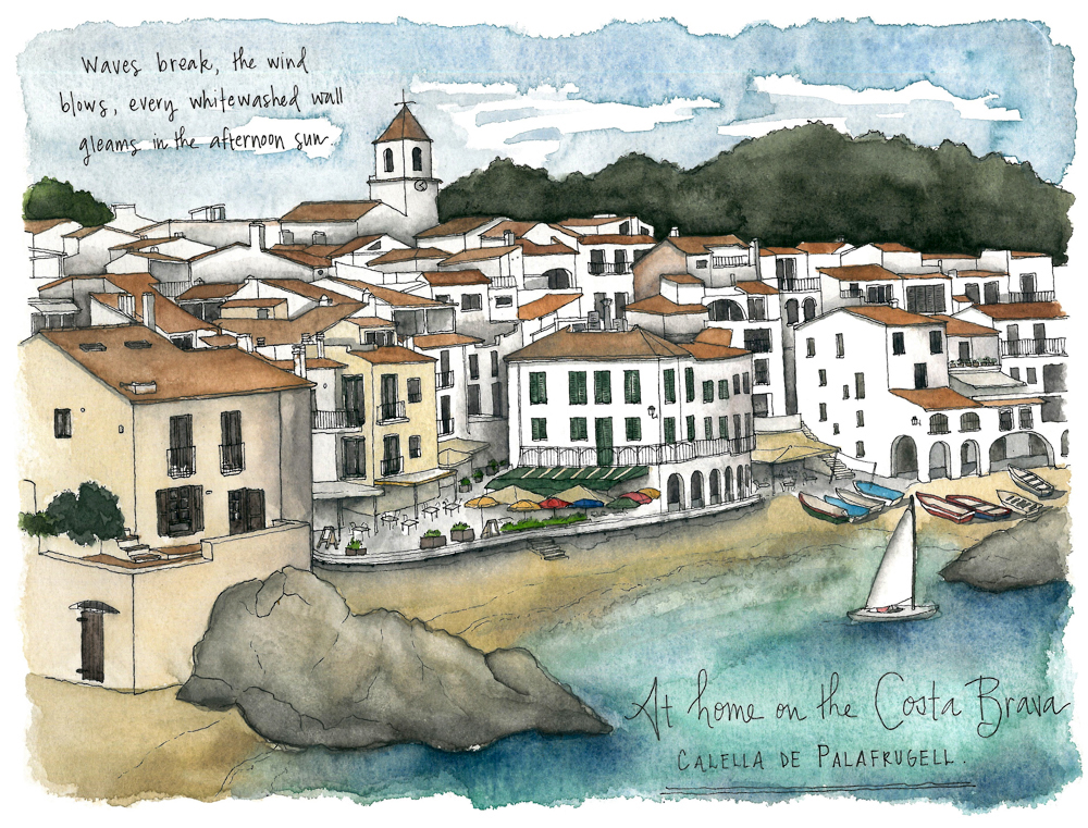 Travel sketch Spain