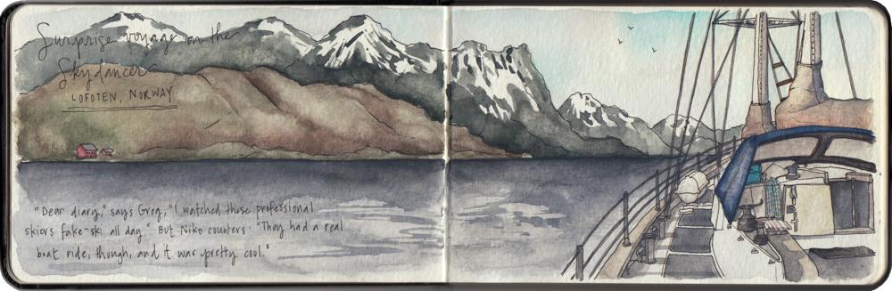 Travel sketch Norway