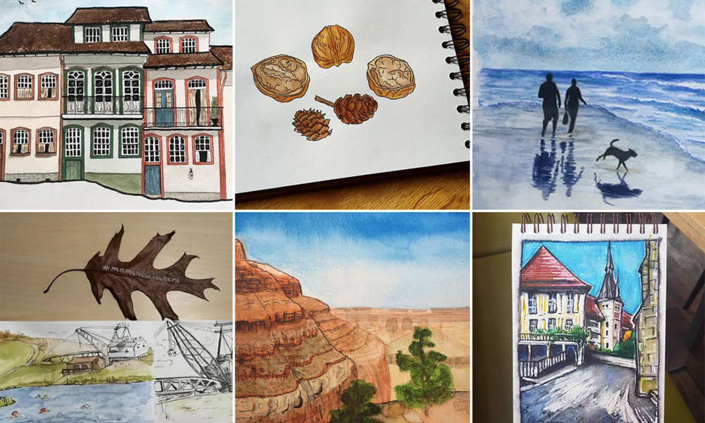 Moment Sketchers Project: Sharing our sketches, November 2017