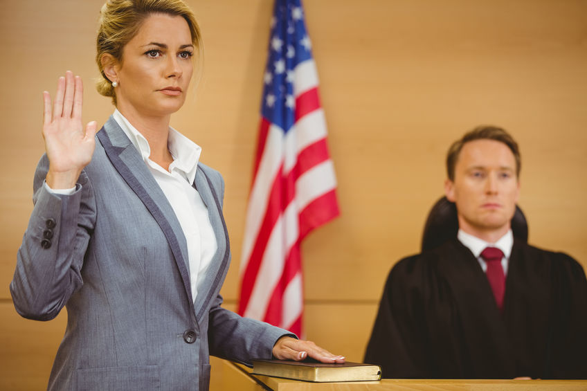 Witness in a Courtroom