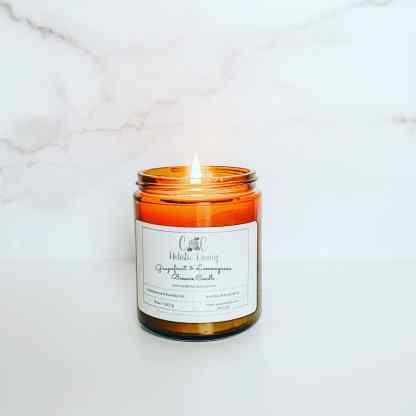 beewax candle grapefruit lemongrass essential oil