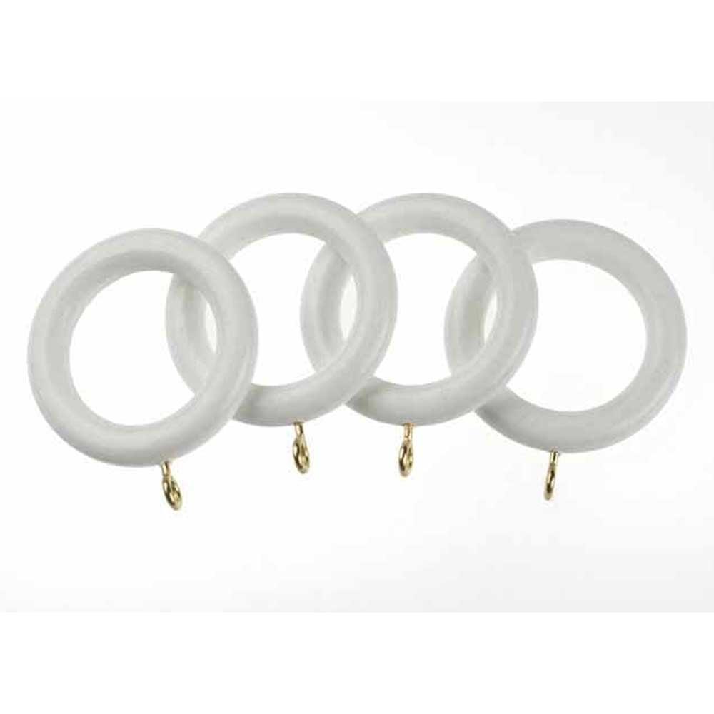 c h classic 28mm wooden curtain rings 4 white