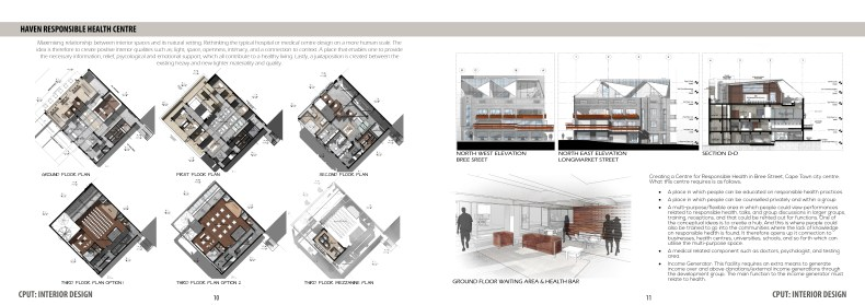 Interior Design Detailing completed by Candida Nel, Interior Designer, during her studies.