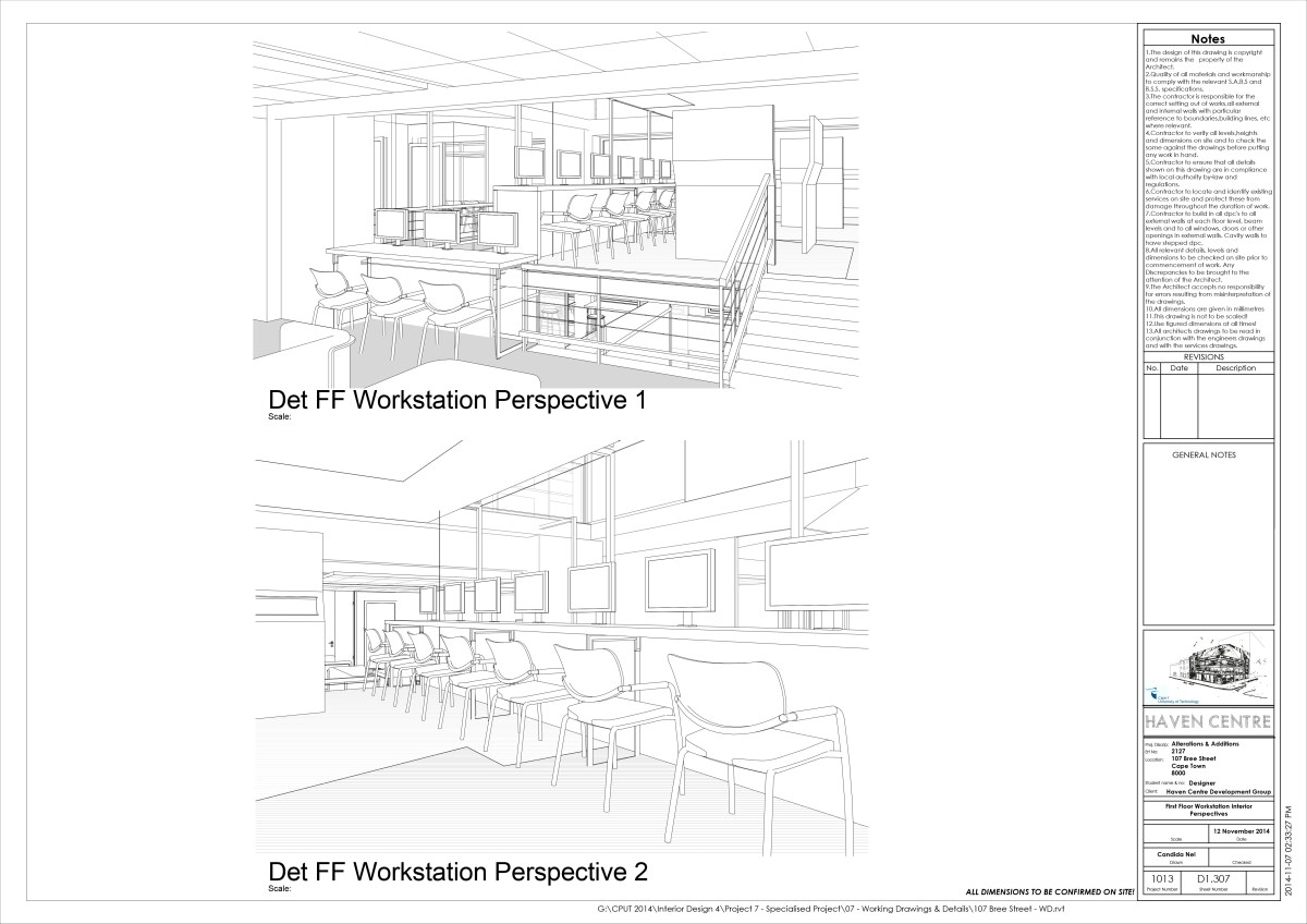 G:CPUT 2014Interior Design 4Project 7 - Specialised Project�7 - Working Drawings & Details107 Bree Street - WD.pdf