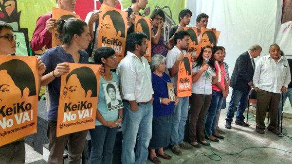 Verónika Mendoza apoya la marcha contra Keiko Fujimori