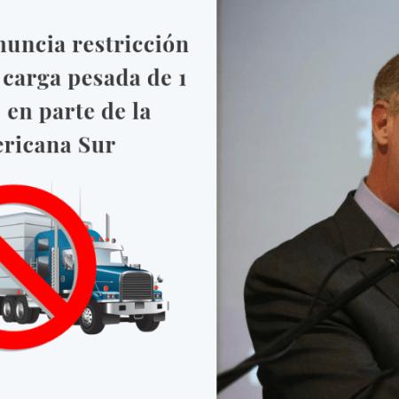 Jorge Muñoz anuncia restricción del tránsito de carga pesada en parte de la Panamericana Sur