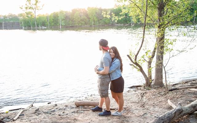 Casual Engagement at Parc de-la-visitation
