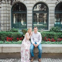 Max and Felicia's Engagement in the Old Port of Montreal