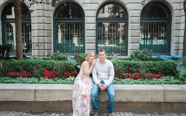 Engagement in the Old Port of Montreal