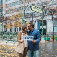 A Fun & Rainy Day Engagement at the World Trade Center