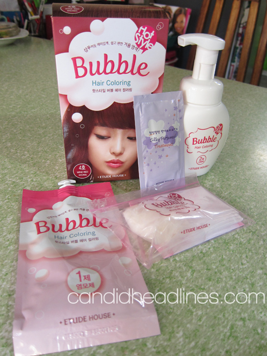 Red Cellophane Hair Color