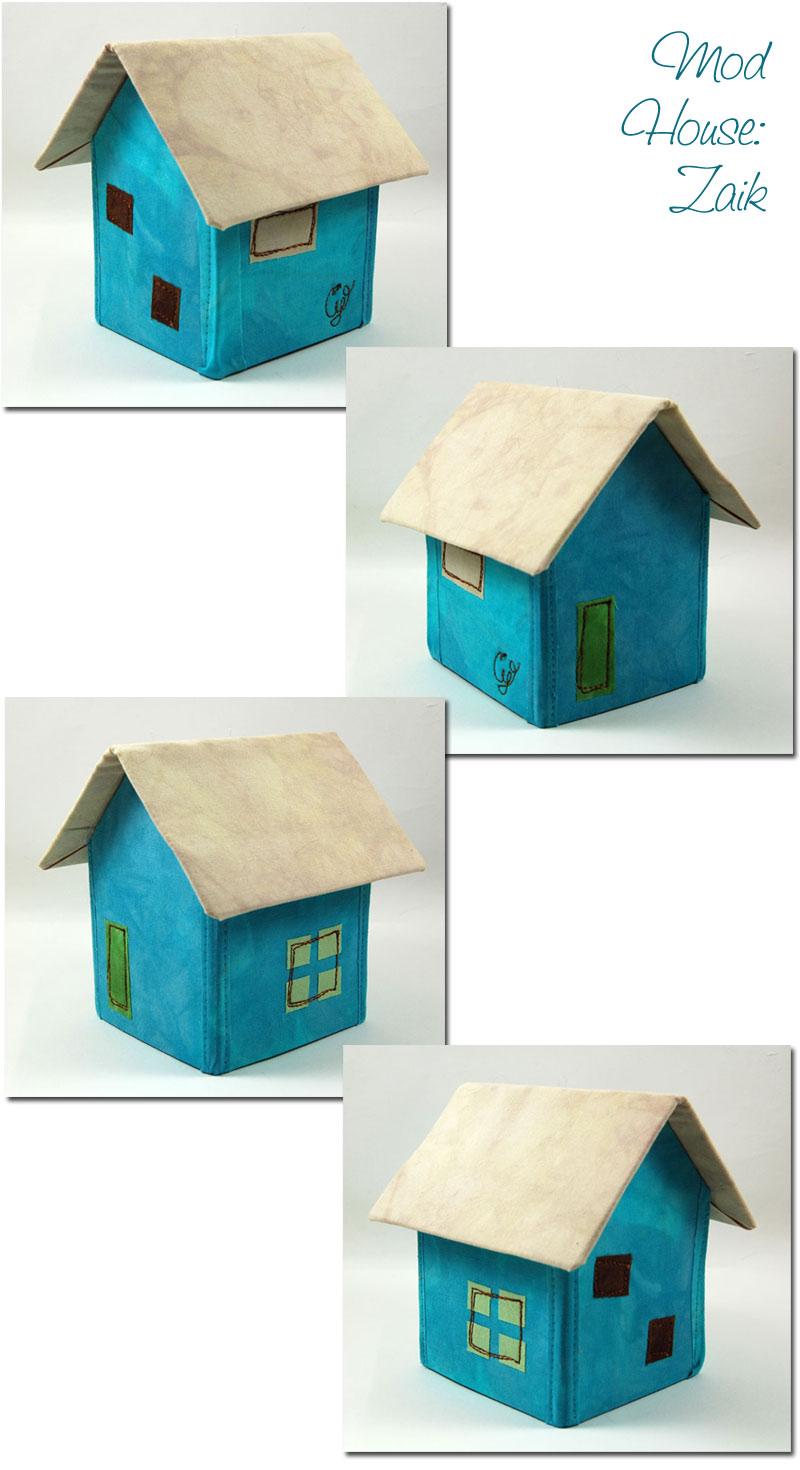 Mid Century Modern House Ornament Inspired by Saul Zaik