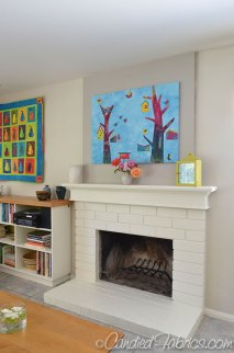 Paint the brick fireplace and family room!