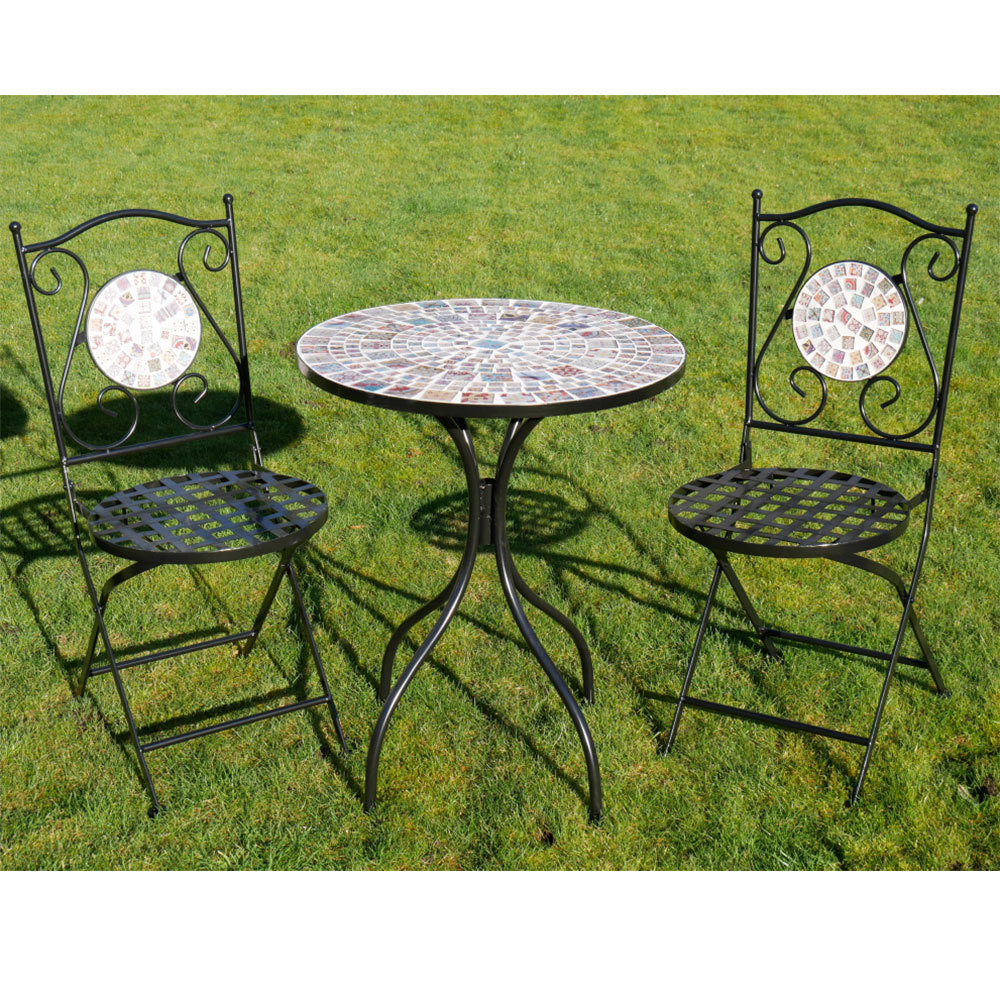mosaic set patio chairs outdoor patio