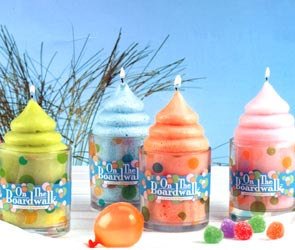 Shaved Ice Cream Candle in Glass Candles - Blue