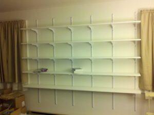 Empty office shelves