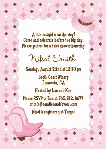 Cow Western Baby Shower Invitations