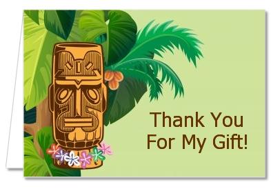 Birthday Party Thank You Cards Luau Tiki Thank You Notes