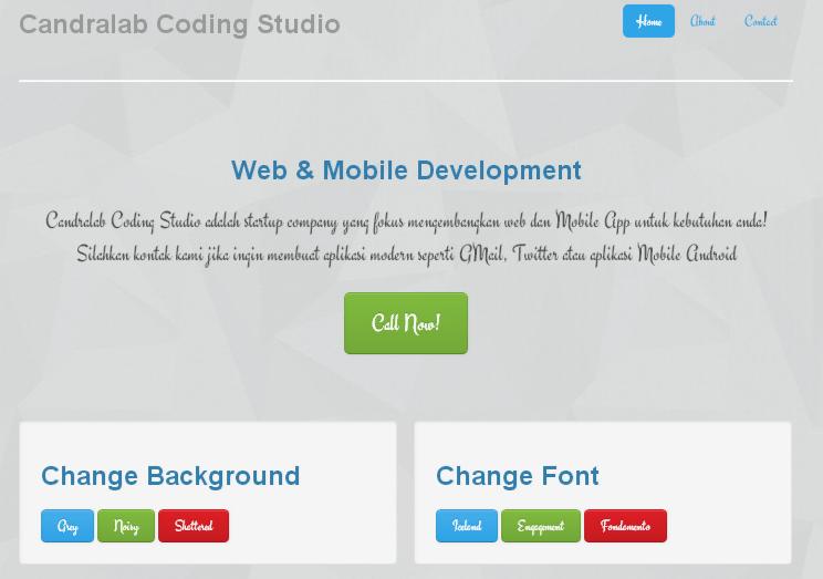 Demo webfont