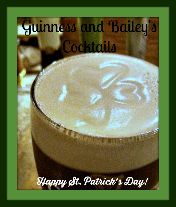 Guinness and Bailey's Cocktails