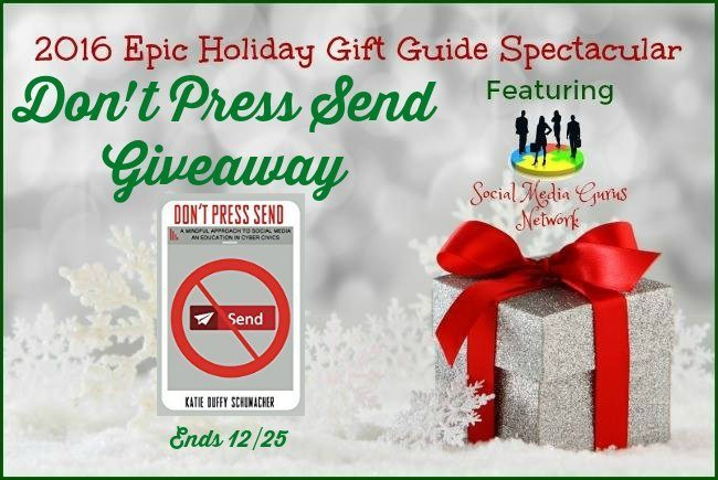 #SMGN #Giveaway Don't Press Send Ends 12/25