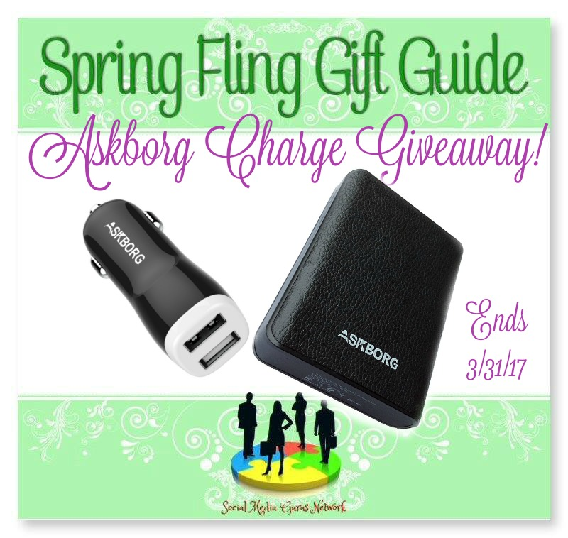 Askborg Charge #Giveaway Ends 3/31 Spring Fling Gift Guide #SMGN